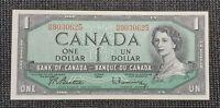 Canada 1954 Beattie Rasminsky BC-37b-i $1.00 Banknote HM 9030625 UNC
