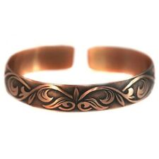 Pure 100% Copper Bracelet Bioactive Bangle Vintage Style Bronze Heather