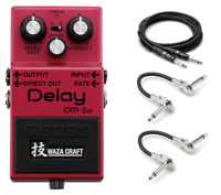 New Boss DM-2W Waza Craft Analog Delay Pedal Free Hosa Cables