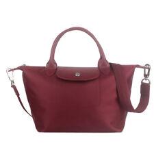 Longchamp Small Neo Handbag Wine Red Le Pliage Authentic