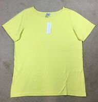 NWT Women's Silhouettes Cotton Crewneck T-Shirt Top