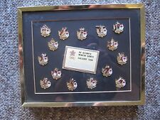 1988 Calgary Olympics Canada's Team Framed Set with 2 rare pins. #'d set