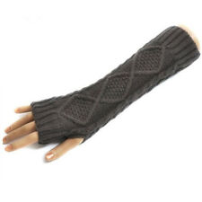 Womens Warmer Mittens Arm Winter Warmer Gloves Long Fingerless Gloves Knitted