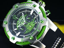 NEW Invicta 52mm Bolt MARVEL GREEN HULK Chrono Limited Edition Black Strap Watch
