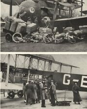 CROYDON. Aircraft. Vickers-Vimy. Loading Cargo and Passengers for Europe 1926