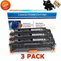 3 PK CF380A Black Toner Cartridge for HP 312A Laser Jet Pro MFP M476nw M476dn