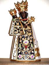 Geschnitzte Altöttinger Muttergottes Madonna Maria mit Kind Holzschnitzerei