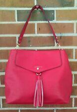 Liz Clairborne Red Handbag Purse with Tassel Accent