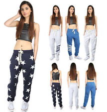 Cotton Blend Loose Fit Trousers for Women