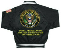 ARMY SATIN JACKET*DEFENDERS*BOSNIA-HERZEGOVINA EMBROIDERED 1-SIDED (BACK ONLY)