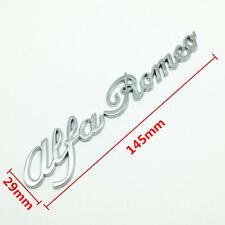 Scritta Alfa Romeo Cromo in metallo con biadesivo MiTo 147 156 GT Brera Giulia