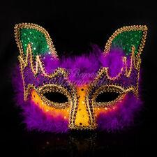 Purple Yellow Fox Mardi Gras Masquerade Mask Party Mask