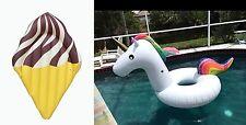 Chocolate Ice Cream and Unicorn Tube Pool Float-Get Bundle Discount-Aussie Stock