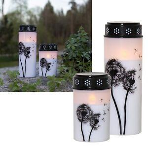 LED Grableuchte mit Motiv & TIMER Grablaterne Grablampe Kerze für Grab Batterie