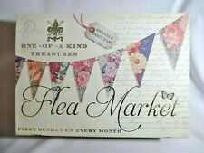 French Flea Market Storage Box One-Of-A-Kind Treasures Magnet Lid