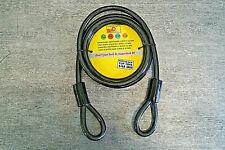 Stahl Seil 12mm x 2m mit 2 Schlaufen Stahlseil Schloß Kabelschloß Absperrseil