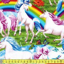 Timeless Treasures Fabric Scenic Rainbows & Unicorns PER METRE Unicorn Rainbow F