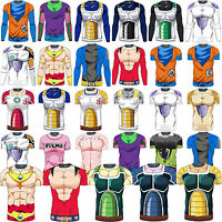 Men Dragon Ball Z Muscle T Shirts DBZ Goku Compression Sport Workout Gym Top Tee