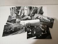 33 VINTAGE POSTCARDS / PHOTOS OF STEAM ENGINES / TRAINS