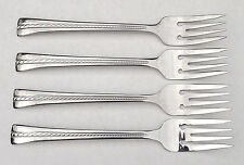 Cuisinart Newport Twine 4 Salad Dessert Forks Stainless Steel 18/10 Flatware