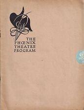 "Raymond Massey ""LATE NIGHT FINAL"" Carol Goodner / Polly Luce 1931 London Program"