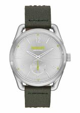 NIXON C39 Leather A459-2232 Silver / Surplus Leather Analog Quartz Unisex Watch