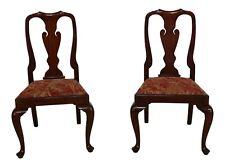 48941EC: Pair HENKEL HARRIS Mahogany 110 Queen Anne Side Chairs