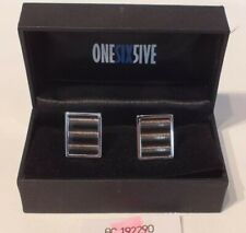 and black in colour (Boxed) Lot P897 Cuff links by Onesix5ive - Oblong Silver