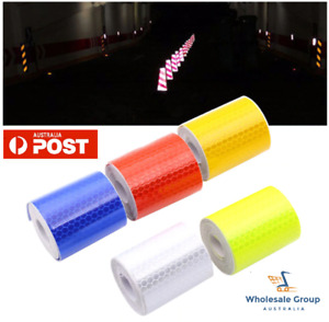 5cm Wide Roll Strip Reflective Tape Hex Hi Vis Safety Gate Bicycle Car 50 Fluro