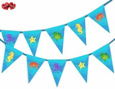 Sea Creatures Mix Themed Bunting Banner 15 flags by Party Decor