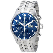 IWC Pilot Le Petit Prince Blue Dial Automatic Mens Chronograph Watch IW377717