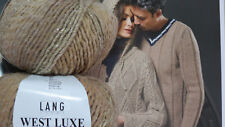 700g Wolle Lang Yarns West Luxe Gold Sand Camel Merino Farbverlauf Sockenwolle
