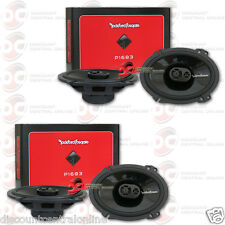 "4 x NEW ROCKFORD FOSGATE P1683 6x8"" 3-WAY CAR AUDIO FULL RANGE COAXIAL SPEAKERS"
