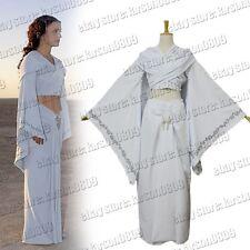 Star Wars Padme Amidala Princess White Dress Cosplay Costume Uniform Custom Made