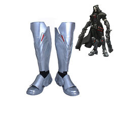 OW Overwatch Reaper Gabriel Reyes Boots Cosplay Shoes Handmade
