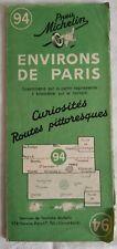Ancienne Carte MICHELIN N°94 ENVIRONS DE PARIS / Curiosités routes pittoresques