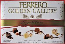 Sealed Ferrero Golden Gallery Signature Fine Assorted Chocolates 12 Cts. 4.2 oz,