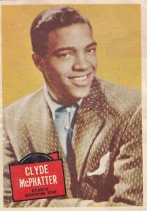 """CLYDE McPHATTER - 1957 TOPPS """" hit stars """"  RECORDING  stars card"""
