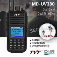 US TYT MD-UV380G DMR w/ GPS Tier II Dual Band Dual Standby 1000CH Two Way Radio