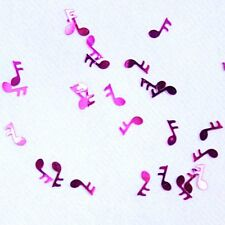 Confettis de table note de musique fuchsia. Décoration de mariage