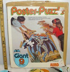 AURORA BATMAN POSTER PUZZLE BOXED COMPLETE 1974