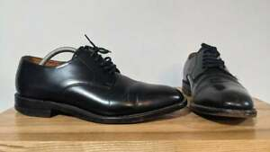 Loake Made in England 205b Black Leather Derby Dress Shoes - UK 8.5