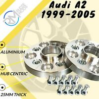 Audi A2 1999-2005 25mm ALLOY Hubcentric Wheel Spacers 1 pair