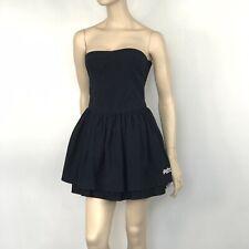Superdry Navy Blue Skater Dress Size M Vintage Cotton Pockets