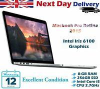 "Apple MacBook Pro Retina 13"" Core i5 5th-G 2.7Ghz 8GB RAM 256GB SSD 2015 A Grade"