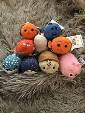 Lot of 9 Disney Pixar Mini Plush Tsum Tsum Finding Nemo Dory Free Shipping