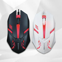 1200DPI Gaming Mouse Optical Mouse For Desktop PC Notebook Computers Black White