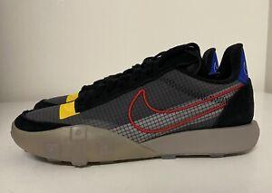 Nike Waffle Racer 2X Women's Sz 8.5 Black Red Blue Yellow Sneaker CK6647-002 NEW