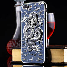 Luxury 3D Embossed Chrome Dragon Soft TPU Case Cover Skin For iPhone 6s 7 plus