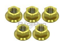 RacePro - Suzuki GSXR1000 K5-K6 05-06 - x5 Titanium Rear Sprocket Nuts -Gold